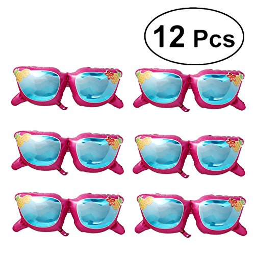 brille Folienballon Fun in The Sun Brille Mylar Luftballons Sonnenbrille Deko Party Supplies für Hawaiian Thema Halloween Geburtstag Hochzeit Baby Dusche Partei (Rosy) ()