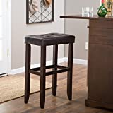 Palazzo 32 Inch Extra Tall Saddle Bar Stool - by Finley Home