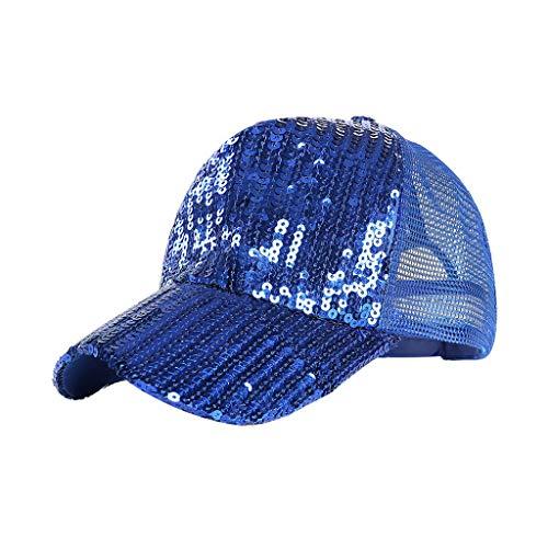 Syeytx Unisex Outdoor Pailletten Farbe Baseball Caps Einstellbare Mesh Belüftung Hut