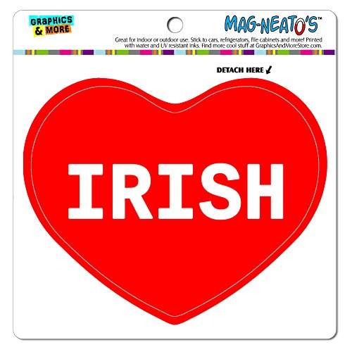Graphics and More Mag-Neato 's-TM Auto Kühlschrank Vinyl Magnet I love Herz Namen weiblich Ich Ione, Irish -