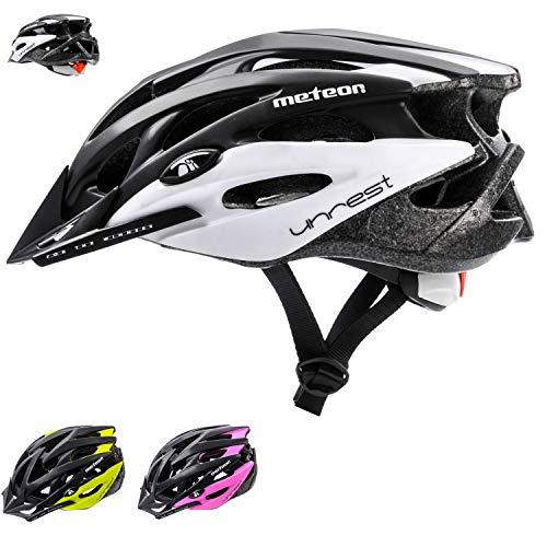 Meteor® Casco Bicicleta Helmet de Bici para jóvenes y Adultos para Ciclismo MTB Road Race Montaña...