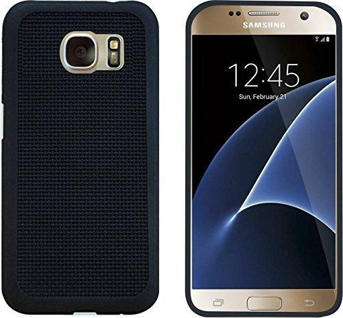 For Samsung Galaxy S7 Dashmesh Shopping Heat Dissipation Hollow Black Net / Jali Designed Thin Soft TPU Back Case Cover