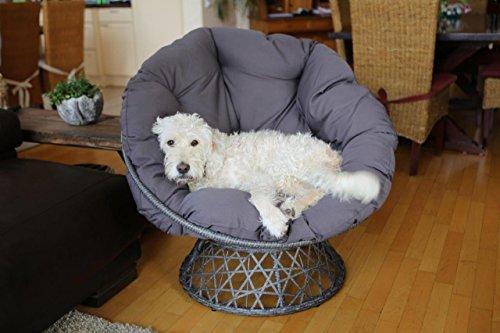 Destiny Drehsessel Coco Sit Papasansessel Round Schwenksessel Korbsessel Hundekorb Hundesessel Gartensessel Sessel - 7