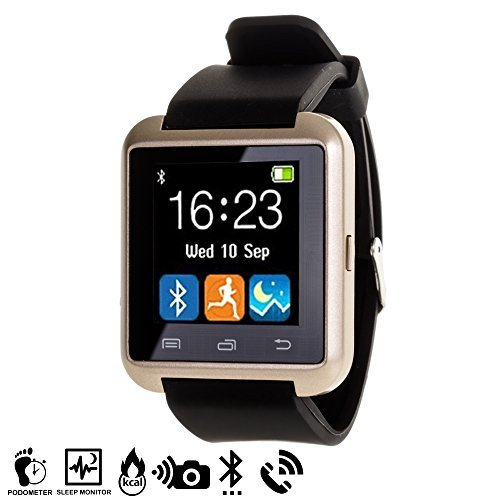 DAM – Smartwatch Multifunción Bluetooth Gold
