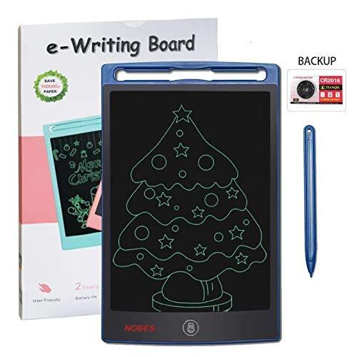 * NOBES LCD Tablet de Escritura 8.5 pulgadas - Escribe tus ideas, dibuja tus pensamientos* >> Ecológico y sostenible: La batería incorporada se puede reemplazar y permite que la tableta se borre más de 100.000 veces. Al usar esta ta...