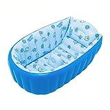 XXSC Bebé inflable de los bebés y de los niños pequeños Bebé toma los crisoles de baño neonatales de los baños de un baño Bañera grande del aislamiento del niño de espesamiento (los 90 * 45 * 28cm) ( Color : Azul )
