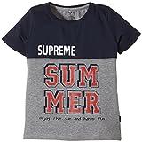 NAME IT Jungen T-Shirt Vils Kids Ss Top 4 Camp Sp15, Gr. 116, Mehrfarbig (Dress Blues)