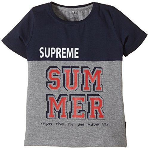 NAME IT - Vils Kids Ss Top 4 Camp Sp15, T-shirt per bambini e ragazzi, multicolore (dress blues), 134 (Taglia produttore: 134-140)