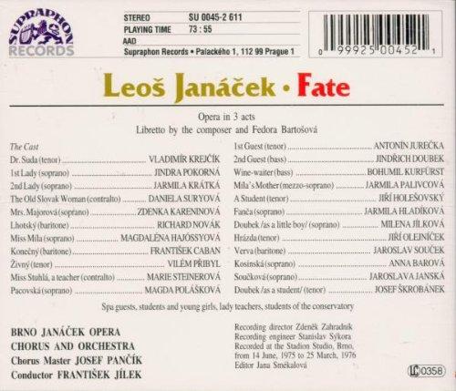 Janácek : Osud fate, opera in 3 acts