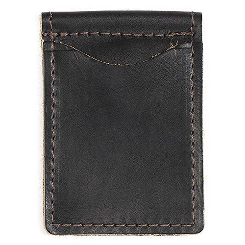 Rustico Leather Money Clip Black -