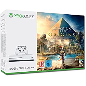 Xbox One S 500GB Konsole – Assassin's Creed Origins Bundle