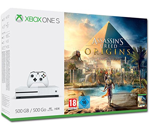 Xbox One S 500GB Konsole - Assassin's Creed Origins Bundle Assassins Creed 4 Für Die Xbox 360
