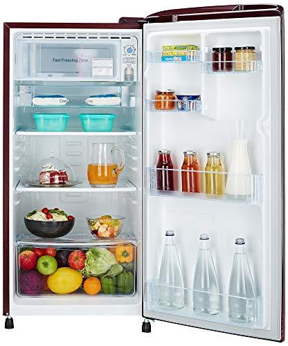 LG 190 L 4 Star Direct Cool Single Door Refrigerator(GL-B201ASDX.ASDZEBN, Scarlet Dazzle,Smart Inverter Compressor)