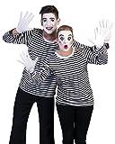 Kostüm Ringelpulli schwarz/weiß Größe 48/50 Damen Herren Unisex Gestreift Pullover Sweatshirt Pantomime Sträfling Clown Karneval Fasching Pierros