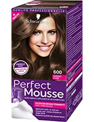 Schwarzkopf Perfect Mousse - Coloration Mousse Permanente sans Ammoniaque - Châtain Clair 600