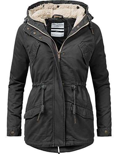 Urban Surface Damen 2in1 Übergangs- und Winterjacke 44363 Anthrazit/Schwarz Gr. XS