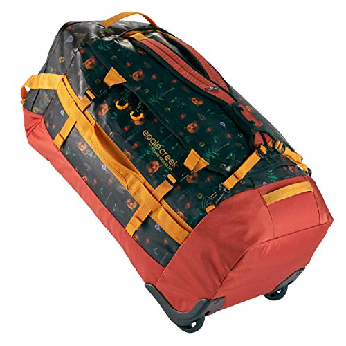 Eagle Creek Cargo Hauler Wheeled Duffel 110L, faltbare Reisetasche mit Rollen, großes Duffle Bag, abrieb- & wasserbeständiges TPU-Gewebe, Rucksacktragegurte, Golden State, XL
