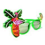 Meisijia Neuheit Hawaii-Strand-Sonnenbrille Zitrone Kokosnuss-Baum Flamingo Verrücktes Tropical Party Brille