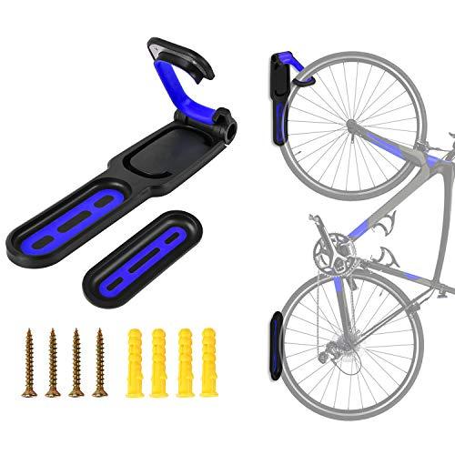LuTuo Fahrradhalter, Fahrrad Wandhalterung, Fahrradhalterung, Fahrradlift, Vertikal & Gefaltet Platz Sparen, Elastischer Gummigriff, Hält Bis zu 50 LB, Mountain Road Folding Fahrrad -