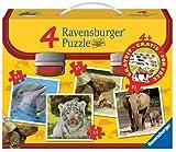 Ravensburger 07045 - Wilde Tierkinder - 2x64 Teile / 2x81 Teile Puzzlekoffer