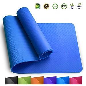 Sosila Yogamatte, TPE, ECO Gymnastik Matte, Übungsmatten, rutschfest, umweltfreundlich, hypoallergen und hautfreundlich, ideal für Yoga, Pilates&Fitness, mit Tasche und Trageband