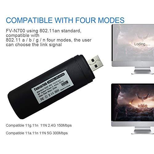 51IrDW9ivJL - Adaptador Wi-Fi inalámbrico USB para televisión, Fancartuk 802.11ac de doble banda 2,4 GHz y 5 GHz, adaptador USB de red WiFi inalámbrico para smart TV Samsung WIS12ABGNX WIS09ABGN 300M
