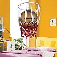 Accesorios de iluminación de la habitación infantil de baloncesto genuino minoxidil Hierro llevó la araña de