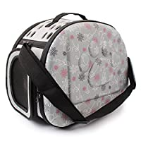 Yimidear Breathable Folding Outdoor Pet bag for Dog Cat Comfort Travel Medium Size Pet Carrier (Gray)