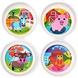 Farm : French Bull - BPA Free Kids Bowls - Melamine Kids Bowl Set - Kids Dinnerware - Farm, Set Of 4
