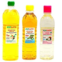 FITLITE Family Pack Combo Groundnut Wood Chekku Oil 1 LTR + Sesame Chekku Oil 0.5 LTR + Coconut Wood Chekku Oil 0.5 LTR
