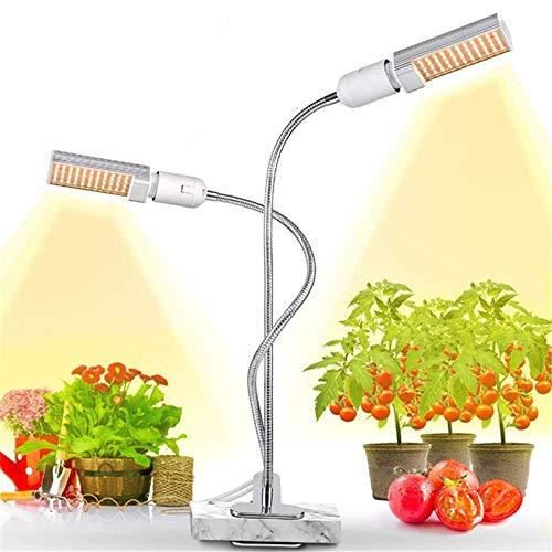 Pflanzenlichter Pflanzenfüllleuchte - Pflanzenbeleuchtung LED 45W Vollspektrumleuchte Doppelkopfleuchte Schwanenhalsclip zum Pflanzen von wachsenden Bäumen