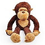 DIS Big Mouth scimmia Super Gigante Huggable Scimmia peluche peluche Toy Caffè 80 cm