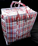 Veekay - Borse per biancheria/spesa, in plastica e con cerniera, 34 x 40 x 18 cm, 10 pz