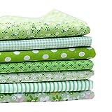 Souarts 7 Stück Stoffpakete DIY Kleine Blume Muster Baumwolltuch Patchwork
