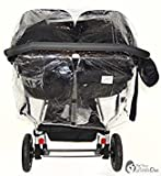 Protector de lluvia Compatible con Mountain Buggy Duet – Carrito doble (213)