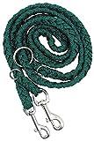MFH geflochtene Hundeleine 1,95m lang Haustier Leine Führleine Flechtleine Seil verschiedene Farben (Grün)
