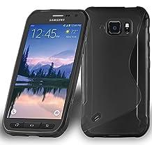 105b386009d Cadorabo Samsung Galaxy S6 Active Funda de Silicona TPU DISEÑO S en ÓXIDO  Negro – Cubierta