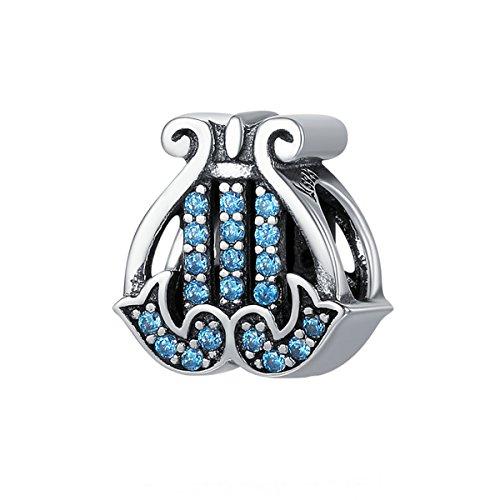 Lieberpaar Damen Mode Schmuck Silber Harfe Perlen Diamant Anhänger Als Geschenk für Mädchen Damen- Elegante Harfe