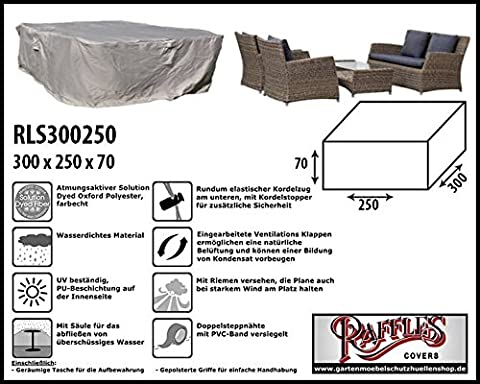 RLS300250Protective Cover for Wicker Lounge Furniture Set Garden Lounge Set Fits on the Best Set of up to 295x 245cm