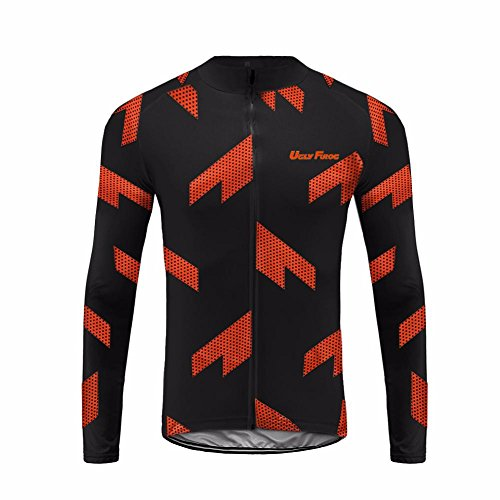 UGLYFROG #17 Radsport Trikots Lange Ärmel Sport & Freizeit Shirts Frühjahr-Herbst Style (Herren Harley Davidson Armband)