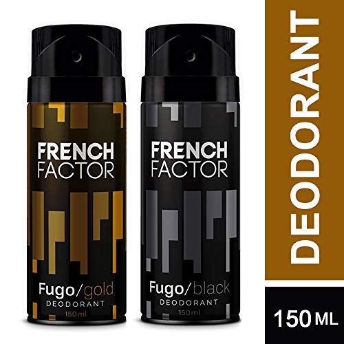 The French Factor Fugo Gold & Black Deodorant Combo Set of 2