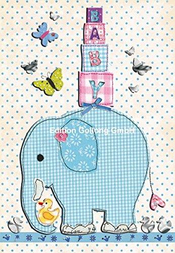 carte-de-felicitations-pour-la-naissance-carola-pabst-elephant-bleu