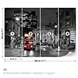 FORWALL DekoShop Fototapete Tapete London und Red Doppeldecker AD196P8 (368cm x 254cm) Photo Wallpaper Mural