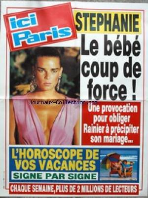 AFFICHE DE PRESSE - STEPHANIE DE MONACO - LE BEBE COUP DE FORCE - HOROSCOPE.