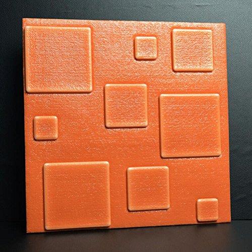 DWCC 3D Brick Wallpaper Selbstklebende Wandaufkleber Zurück Wand Für Wohnzimmer Schlafzimmer Moderne Umweltschutz Elastizität Einfache Stil,Brown,30*30