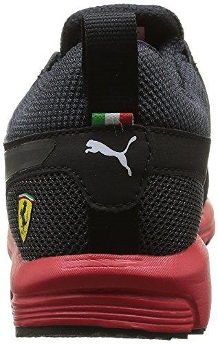 Puma Pitlane Sf 1 5, Baskets Basses Homme Noir (Black/Black/Rosso Corsa)