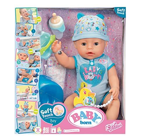 Baby Born 30880–Muñeca interactiva para niño 9funciones y 11(incluye accesorios)