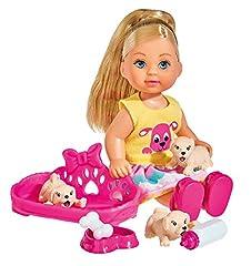 Idea Regalo - Simba 105733041 - Evi Puppy Love con Cuccioli