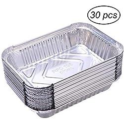 xutong 30 PCS Barquettes Aluminium Accessoire de Barbecue Lot de 650ml