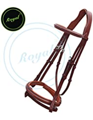 Runners Fancy Raised Bridle with PP Rubber Reins./ Buffalo Leather./ Stainless Steel Buckles.
